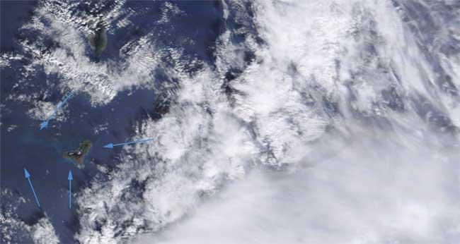 manchas erupción El Hierro, Terra 08-12-2011