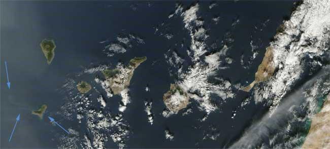 mancha erupción El Hierro, Terra 09-12-2011