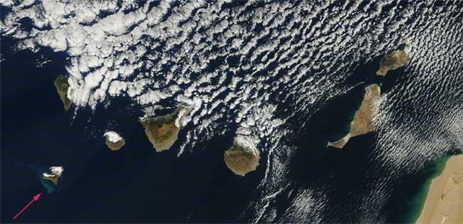 mancha erupción de El Hierro, Terra 16-12-2011