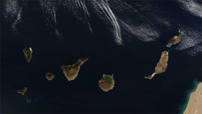 mancha erupción El Hierro, terra 21-12-2011