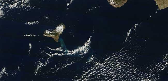 mancha erupción El Hierro, Terra 23-12-2011
