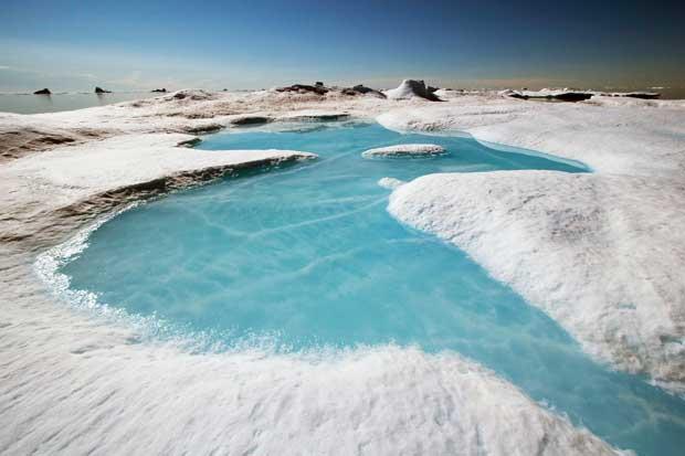 noroeste de Groenladia, derretimiento de glaciar