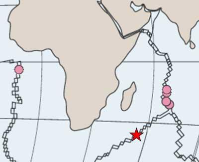 placa tectónica del sudoeste de la India
