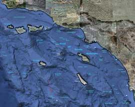 Mapa de Santa Catalina basins y el Banco Cortés