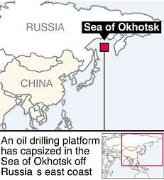 situación del Mar de Ojotsk