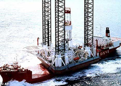 transporte de la plataforma petrolera Kolskaya