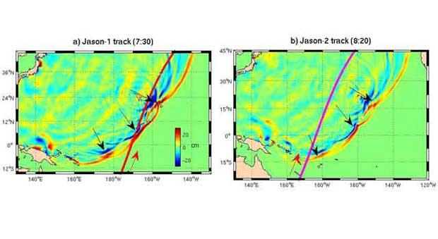 tsunamis fusión en Japón, Jason-1 y Jason-2