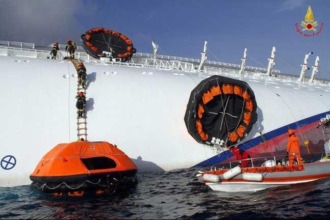 botes salvavidas del Costa Concordia