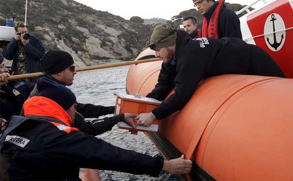naufragio del crucero Costa Concordia, Italia - caja negra