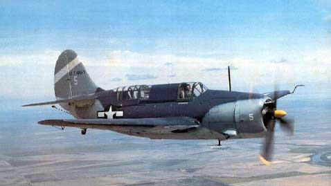 Curtiss Helldiver SB2C en vuelo