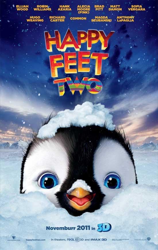 Happy Feet dos 3d, cartel