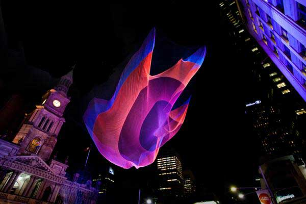 Janet Echelman, escultura flotante