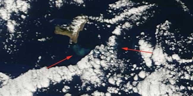 mancha erupción El Hierro, Terra 01-01-2012