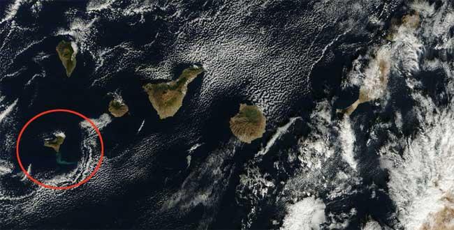 mancha erupción El Hierro, Terra 08-01-2012