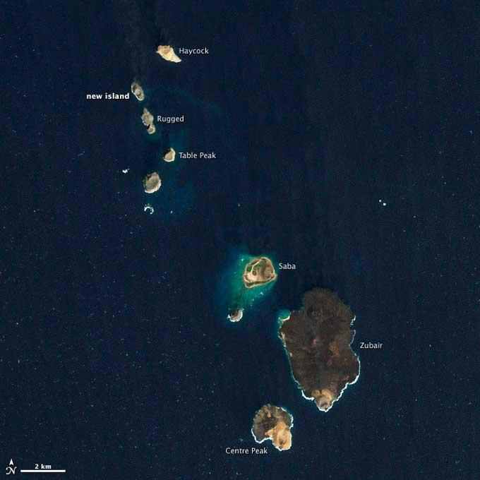 nueva isla en el Mar Rojo 15-02-2012