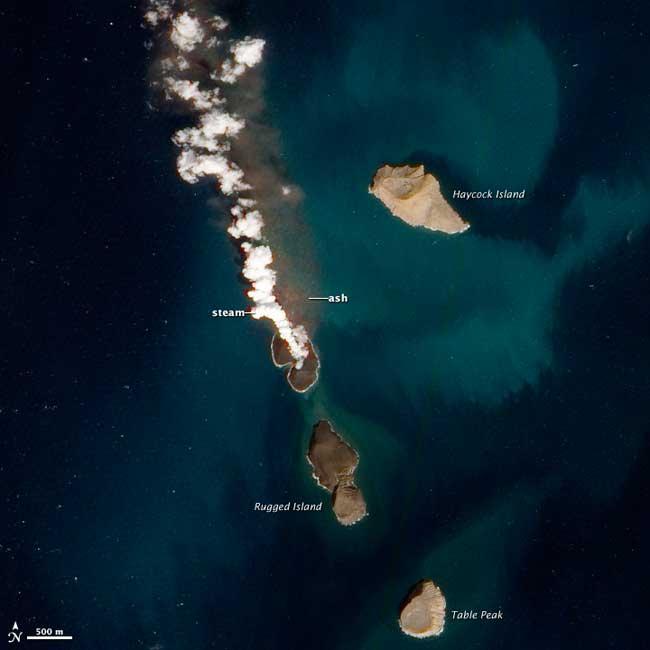 nueva isla en el Mar Rojo