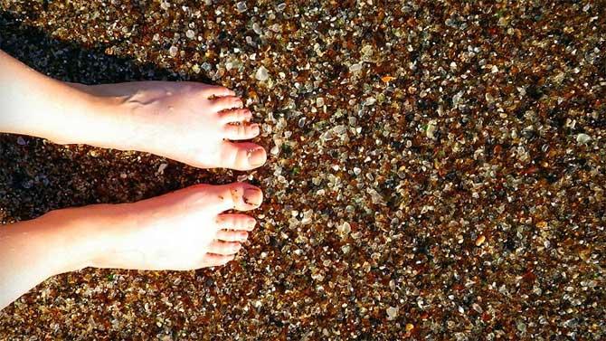 Cristales en la playa de California, Glass Beach
