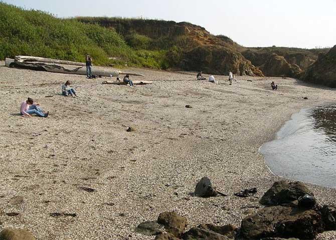 Playa de Glass Beach, California