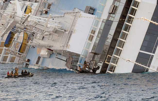 rescate de cuerpos del Costa Concordia