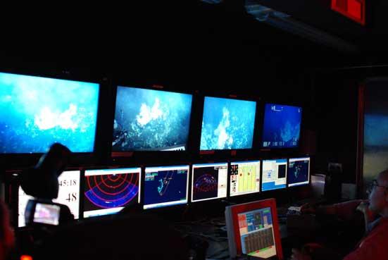sala de control de ROV