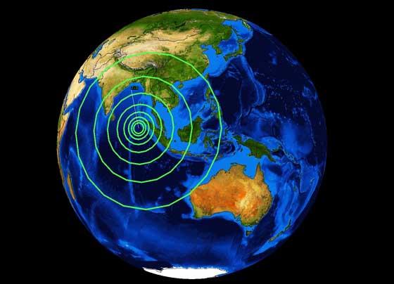 terremoto en el norte de Sumatra 10 de enero de 2012