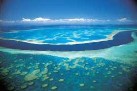 arrecifes en la Gran Barrera de Coral de Australia