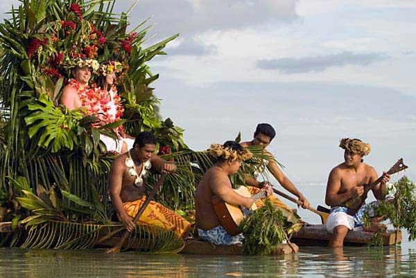 una ceremonia de boda en la isla Moorea