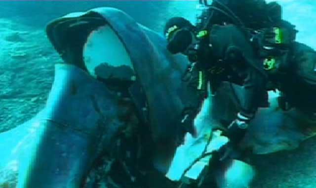 buzo encuentra gran pedazo del Costa Concordia