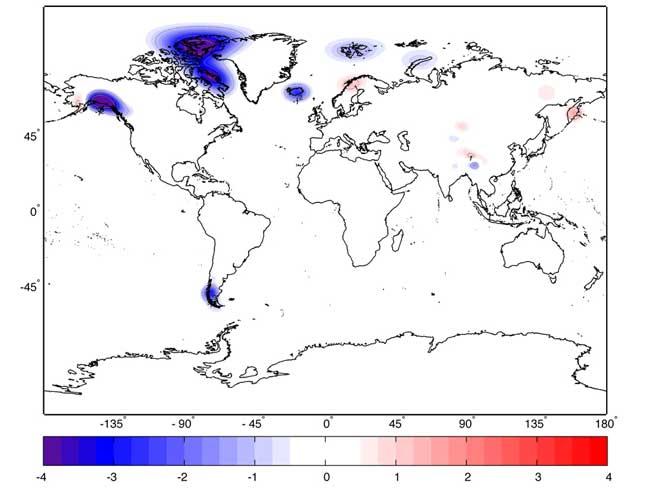 cambios en el espesor de hielo marino 2003-2010
