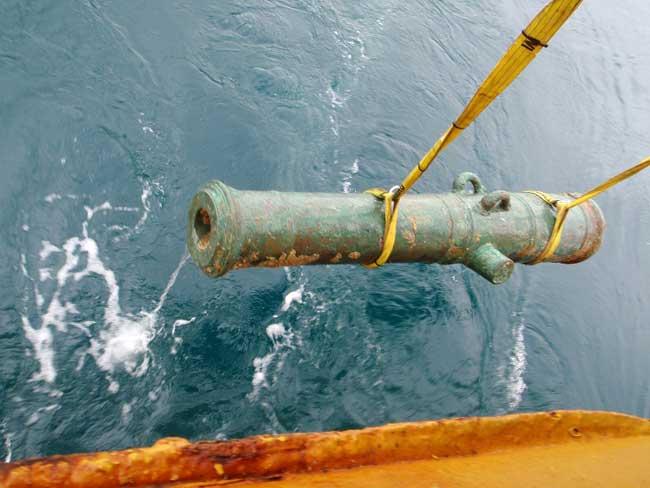 cañón del HSM Victory