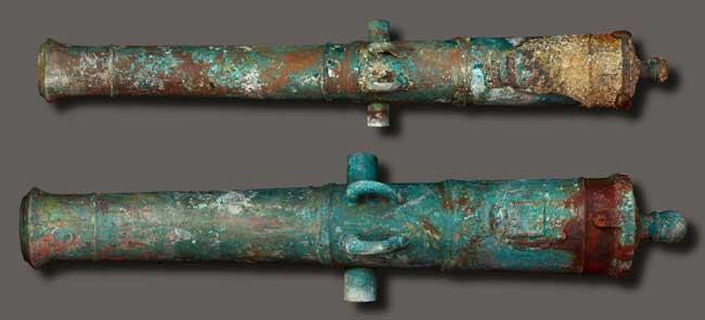cañones del HSM Victory