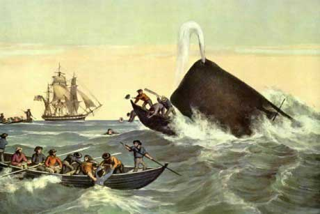 caza antigua de un cachalote