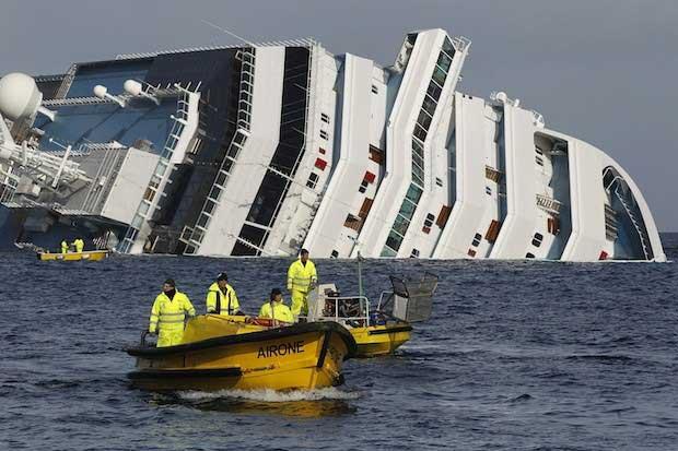 contaminación por naufragio Costa Concordia