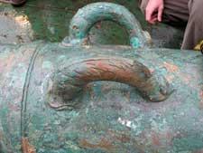 detalle de un cañón del HSM Victory