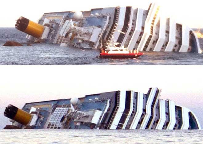 escoramiento del Costa Concordia