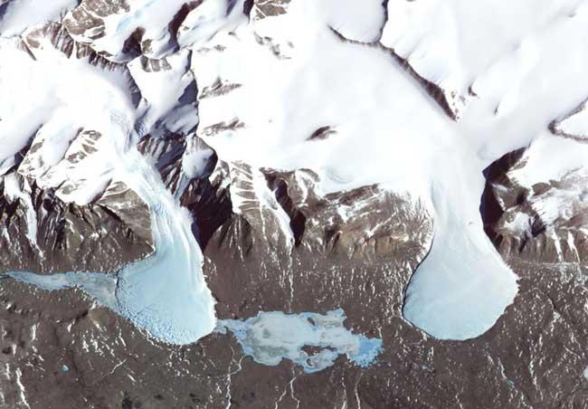 glaciares en la Antártida, Mar de Ross