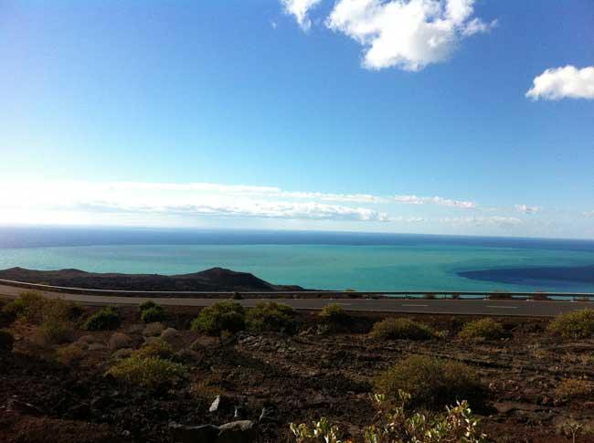 mancha de la erupción volcánica frente a La Restinga, 02-02-2012