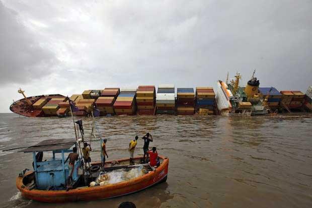 naufragio del MSC Chitra