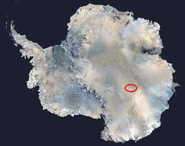 situación Lago Vostok, Antártida