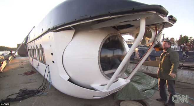 submarino para viajes turísticos de Ocean Explorer