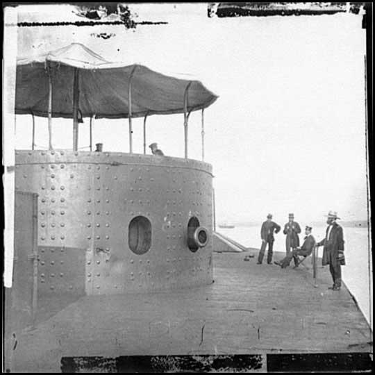torre del USS Monitor, foto antigua