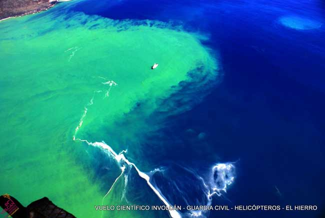 buque oceanográfico Ramón Margalef sobre la erupción submarina de El Hierro