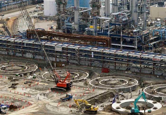 complejo de petroleoen Ichihara, ahora