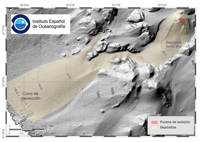 cono volcánico y depositos asociados