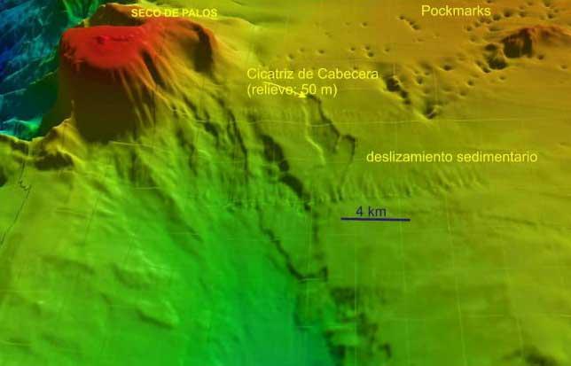 cráteres submarinos del Cabo de Palos