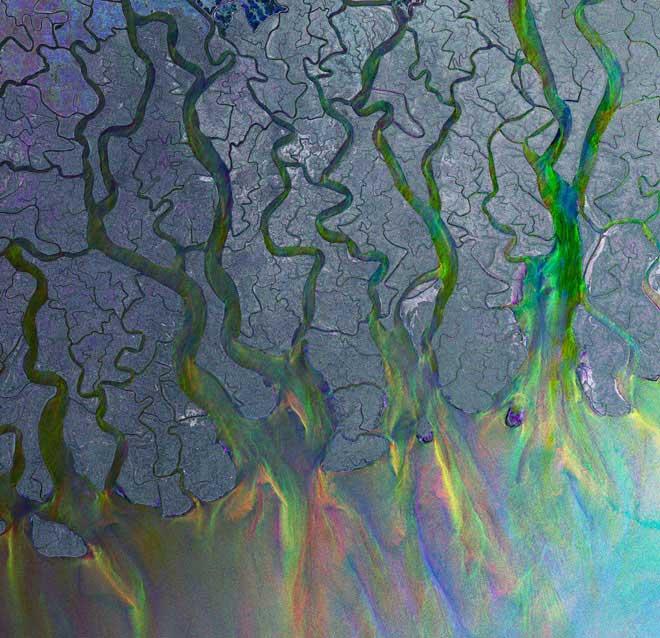 delta del Ganges desde el satélite Envisat