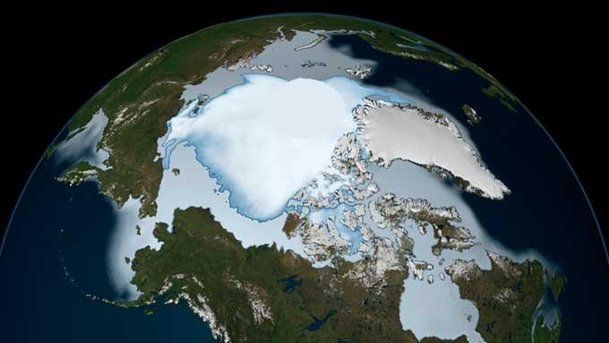 extensión del hielo marino del Ártico en 1980