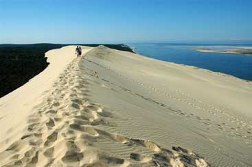 un paseo por la gran duna de Pyla, Francia