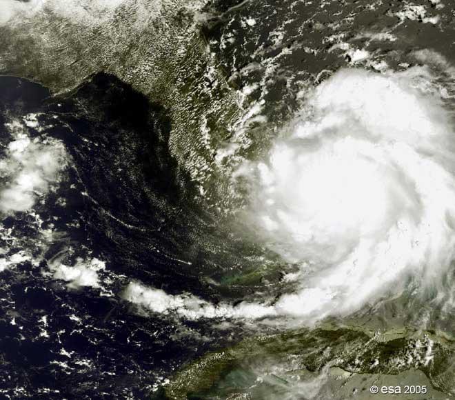 huracán Katrina desde el satélite Envisat