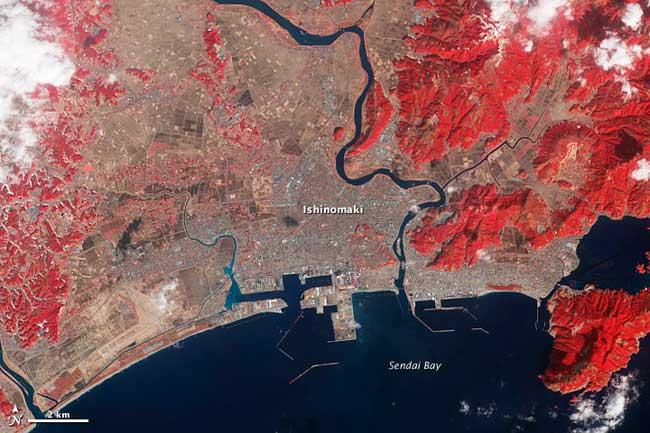 Ishinomaki, recuperación tierras febrero 2012
